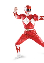 Red Ranger Men Muscle Costume