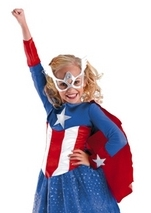 Girls Captain America Costume