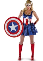 Sassy Captain America Deluxe Woman Costume