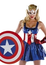 Adult Captain America Deluxe Woman Costume
