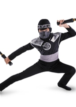 Night Fury Boys Dark Raven Ninja Costume