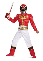 Power Ranger Megaforce Boys Red Ranger Megaforce Muscle Costume