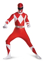 Adult Red Power Ranger Deluxe Men Bodysuit