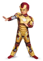 Iron Man 3 Boys Toddler Muscle Deluxe Iron Man Halloween Costume