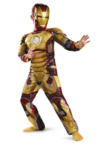 Iron Man 3 Boys Iron Man Muscle Costume