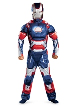 Iron Man 3 Boys Patriotic Iron Man Muscle Costume