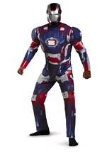 Iron Man 3 Patriotic Men Light Up Deluxe Costume