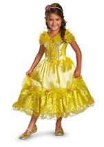 Belle Sparkle Deluxe Disney Princess Girl Costume