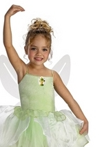 Kids Tinkerbell Ballerina Girls Fairy Costume