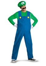 Super Mario Deluxe Luigi Men Costume