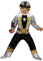 Power Rangers Special Silver Ranger Super Megaforce Classic Muscle Toddler Costume