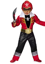 Kids Red Ranger Super Megaforce Light-Up Motion Activated Toddler Costume
