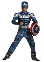 Marvel Captain America Movie 2 Deluxe Muscle Boys Costume