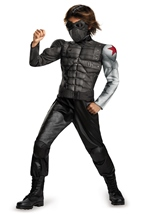 Marvel Captain America Winter Soldier Classic Muscle Boys Costume