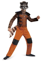 Guardians Of Galaxy Rocket Raccoon Classic Boys Costume