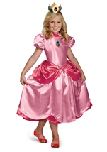 Super Mario Princess Peach Deluxe Girls Costume