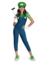Super Mario Luigi Girl Tweens Costume
