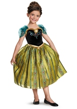 Disney Frozen Anna Coronation Gown Deluxe Girls Costume