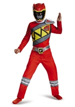 Red Power Ranger Dino Charge  Boys Costume