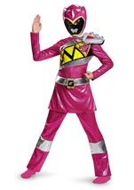 Pink Power Ranger Dino Charge Girls Deluxe Costume