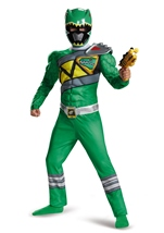 Green Power Ranger Dino Charge Muscle Boys Costume