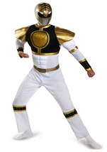 White Power Ranger Men Costume