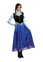 Adult Anna Travelling Disney Princess Woman Costume