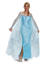 Elsa Frozen Prestige Woman Halloween Costume