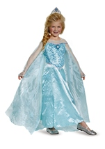 Elsa Frozen Prestige Girls Costume