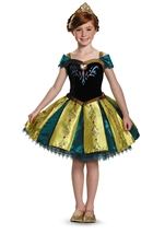 Anna Coronation Frozen Prestige Girls Costume