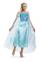 Frozen Movie  Woman Deluxe Elsa Snow Queen Costume
