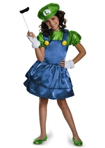 Luigi Girls Super Mario Costume