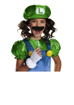 Luigi Girls Super Mario Halloween Costume