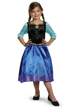 Kids Anna Disney Princess Girls Frozen Costume