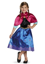 Anna Disney Princess Girls Frozen Costume