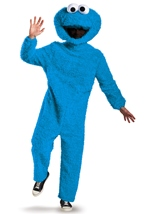 Cookie Monster Plush Deluxe Sesame Adult Costume