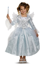 Fairy Godmother Cinderella Movie Girls Deluxe Costume