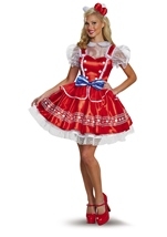 Hello Kitty Woman Lolita Deluxe Costume