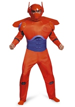 Adult  Baymax Big Hero Red Men Deluxe Costume