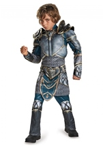 Lothar Warcraft Boys Muscle Costume
