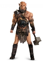 Adult Orgrim Deluxe Muscle Warcraft Men Costume
