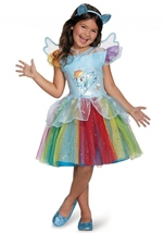 Rainbow Dash Tutu Deluxe Girls Costume
