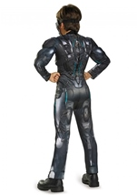 Spartan Halo Locke Boys Muscle Halloween Costume