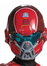 Kids Red Spartan Halo Boys Muscle Costume