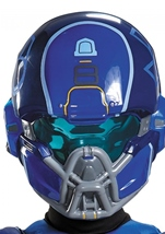Blue Spartan Halo Boys Muscle Halloween Costume