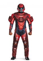Red Spartan Muscle Men Costume