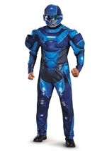 Blue Spartan Muscle Adult Men Costume