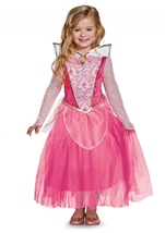 Kids Aurora Disney Princess Girls Costume