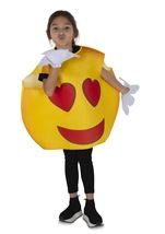 Kids Hearts Smiley Unisex  Costume