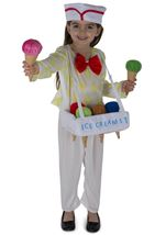 Ice Cream Vendor Unisex Kids Costume